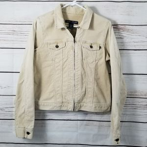 A & F | Distressed Faded Khaki Cordoroy Jacket